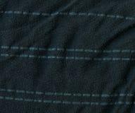 Bawełnianej tkaniny tekstura szarość z lampasami - zmrok - Obrazy Royalty Free