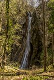 Wysoka siklawa w Rhodope pasmie górskim obraz royalty free
