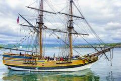 Wysoka statek dama Waszyngton w Newport, Oregon obraz stock