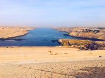 Wysoka tama Aswan obraz royalty free