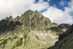 Wysoka (Vysoka) prominentu szczyt w Tatrzańskich górach Fotografia Stock