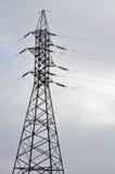 wysoka wieża napięcia elektrycznego Elektryczność przekazu pilon Zdjęcie Stock