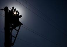 Wysoka woltaż linia, elektryczność, energia, produkcja energii, władza obrazy stock