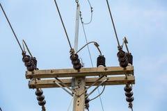 Wysoka woltaż linia energetyczna 22kv Zdjęcie Royalty Free