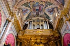 Wysoki baroku St John Cathedra Zdjęcia Stock