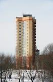 wysoki budynek nowoczesnej wielo- kondygnacja Zdjęcia Royalty Free