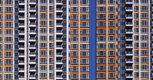 wysoki budynku mieszkaniowy wzrost Zdjęcia Royalty Free