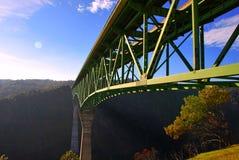 wysoki California kasztanowy bridżowy foresthill zdjęcia stock