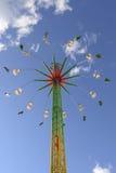 Wysoki carousel od beneath przy Oktoberfest, Stuttgart Obraz Royalty Free