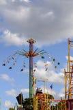 Wysoki carousel przy Oktoberfest, Stuttgart Zdjęcie Royalty Free