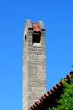 Wysoki ceglany komin na domu Obraz Stock