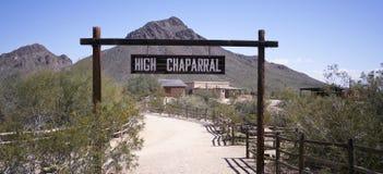 Wysoki Chaparral Ustawiający Stary Tucson, Tucson, Arizona Fotografia Royalty Free