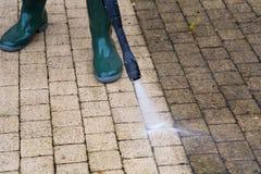 Wysoki Ciśnieniowy Cleaning Obraz Royalty Free