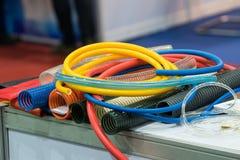 Wysoki ciśnieniowy lotniczy wąż elastyczny dla przemysłowej maszyny i wyposażenia zdjęcia stock