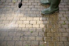 Wysoki Ciśnieniowy Cleaning - 3 Zdjęcia Royalty Free