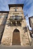 Wysoki dom w Assisi obraz stock