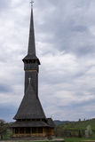 Wysoki drewniany kościół Zdjęcia Royalty Free
