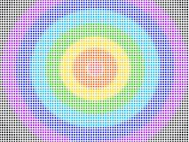 Wysoki - gęstość kropek kolorowy wzór bezszwowy ilustracja wektor