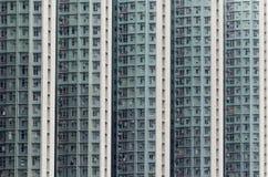 Wysoki - gęstości mieszkania państwowego budynek w Hong Kong fotografia royalty free
