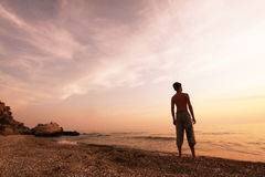 wysoki jpg rezolucji morza słońca Zdjęcia Royalty Free