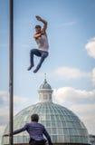 wysoki jumping Zdjęcia Royalty Free