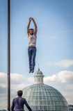 wysoki jumping Obrazy Royalty Free