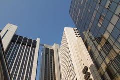 wysoki kąta budynek Zdjęcia Stock