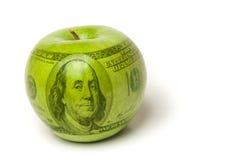 Wysoki koszt edukaci jabłko Zdjęcia Royalty Free