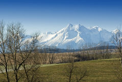 wysoki krajobrazowy tatra Zdjęcia Royalty Free