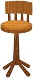 Wysoki krzesło robić drewno ilustracja wektor