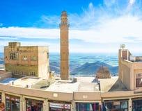 Wysoki minaret Fotografia Royalty Free