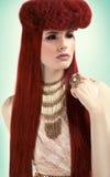 wysoki moda portret Zdjęcie Royalty Free