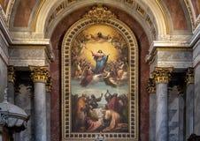 Wysoki ołtarz Esztergom bazylika, Esztergorm, Węgry zdjęcie royalty free