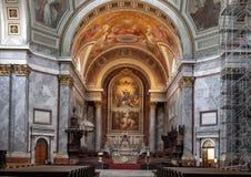 Wysoki ołtarz Esztergom bazylika, Esztergom, Węgry obrazy royalty free