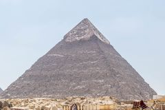Wysoki ostrosłup Antyczny Egipt zdjęcia royalty free