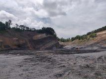 Wysoki poziom kopalnia węgla, węglowa warstwa obrazy royalty free