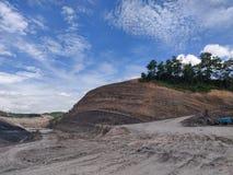 Wysoki poziom kopalnia węgla, węglowa warstwa fotografia stock