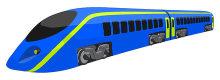 Wysoki prędkość pociąg Obraz Royalty Free