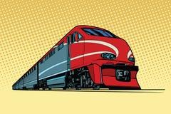 Wysoki prędkość pociąg pasażerski royalty ilustracja