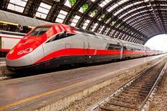 Wysoki prędkość pociąg w Włochy zdjęcie royalty free