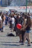 Wysoki prędkości Moskwa miasto Ściga się Wiele widzów letniego dzień Fotografia Stock