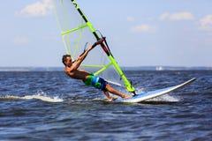 Wysoki prędkości Windsurfer Obrazy Royalty Free