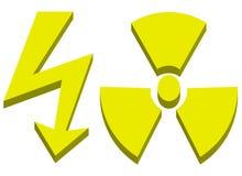 wysoki promieniotwórczy szyldowy woltaż Zdjęcie Royalty Free
