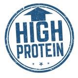 Wysoki - proteina znaczek lub znak ilustracji