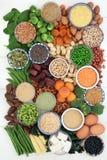 Wysoki - proteinowa zdrowia jedzenia kolekcja zdjęcia stock