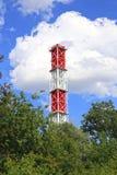 Wysoki przemysłowy komin Fotografia Royalty Free