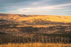 Wysoki Pustynny widok od Płomiennego wąwozu - Zielony Rzeczny Sceniczny Byway zdjęcia stock