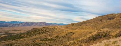 Wysoki Pustynny widok od Płomiennego wąwozu - Zielony Rzeczny Sceniczny Byway zdjęcie royalty free