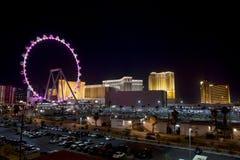 Wysoki rolownik Ferris Toczy wewnątrz Las Vegas Fotografia Royalty Free