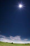 wysoki słońce Zdjęcia Royalty Free